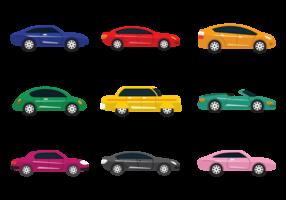 Colorul Carros Vector Icons