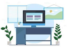 Gratis Vector Workspace Illustration