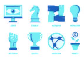 Set van business iconen vector