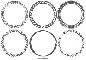 Funky Sketchy Frames Collection vector