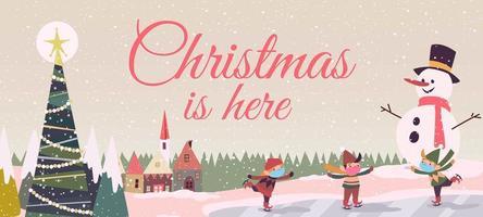 vier kerstfeest met gezondheidsprotocol vector