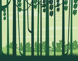 mistige bossen landschap-achtergrond