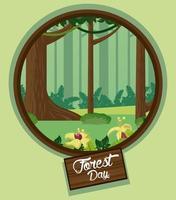 landschap voor bosdagviering
