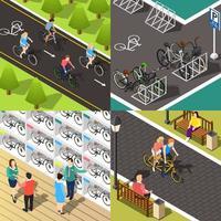 fiets isometrische 2x2