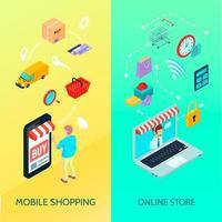 winkelen e-commerce banner vector