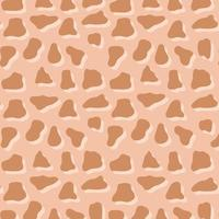 dierenhuid print patroon. bruine onregelmatige schaduwen vlekken vector