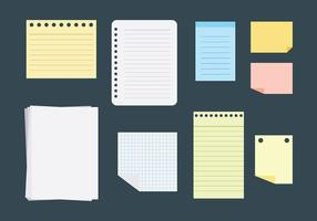 Gratis Block Notes Icons Vector