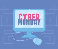 cyber maandag. computermonitortechnologie vector