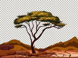 natuur buiten landschap transparante achtergrond vector