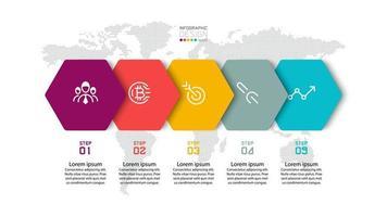 moderne infographic sjabloon voor bannerpresentatie