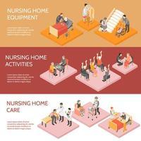 verpleeghuis horizontale banners vector