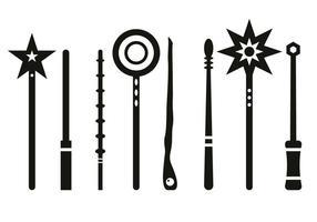 Magic stick silhouet vector
