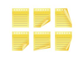 Gele Block Notes Vectors