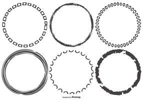 Funky schetsmatig Round Frames vector