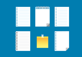 Block Notes Collection vector