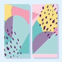 abstracte creatieve vormen. Omslagen in geometrische stijl uit de jaren 80