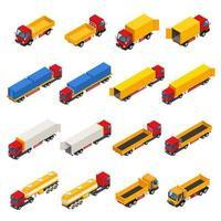 vrachtwagen isometrische set