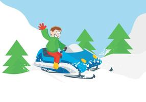 Riding sneeuwscooter