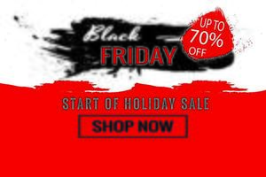 start van de Black Friday-verkoopposter
