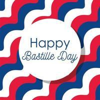 gestreepte achtergrond van gelukkige bastille-dag