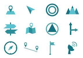 Kaart Legend symbool teken vector