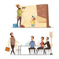 cartoon vaderschap concept
