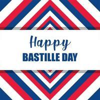 gestreepte achtergrond van happy bastille day vector design