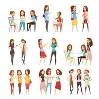 aantal jonge vrouwen praten