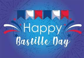 banner wimpel van gelukkige bastille dag
