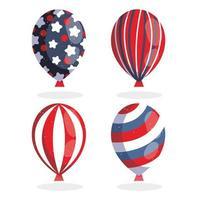 onafhankelijkheidsdag ballonnen vector