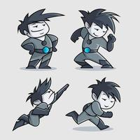 schattig superheld cartoon karakter ontwerp
