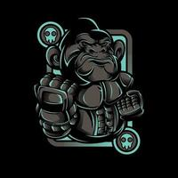 ijzeren aap robot vechter t-shirt ontwerp