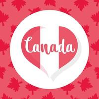 Canadees vlaghart voor gelukkige dag van Canada