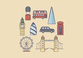 Gratis England Icons vector