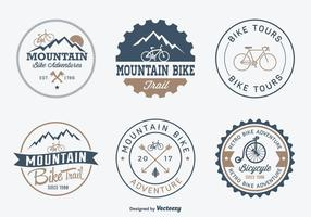 Gratis Bicycle Adventure Vector Badges