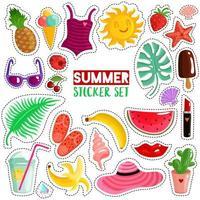 set zomer stickers