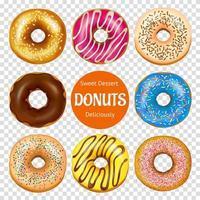 set van realistische donuts