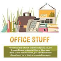 kantoor en werk sjabloon voor spandoek vector