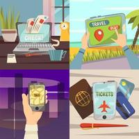 on-line reisboekingsdiensten ingesteld