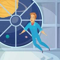 astronaut man zwevend vector