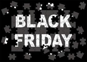 zwarte vrijdag verkoop puzzel posterontwerp