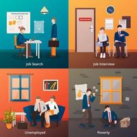 werkloosheidsscène ingesteld