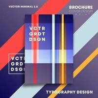 kleurrijk lijnenontwerp voor flyer, poster, brochure