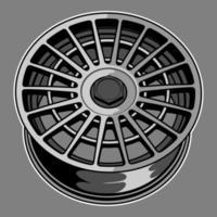 auto wiel tekening