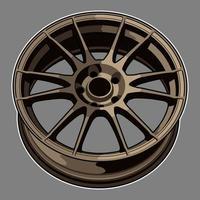 brons kleur auto wiel tekening