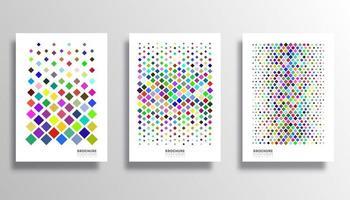 kleurrijke ruitpatroon ingesteld voor flyer, poster, brochure