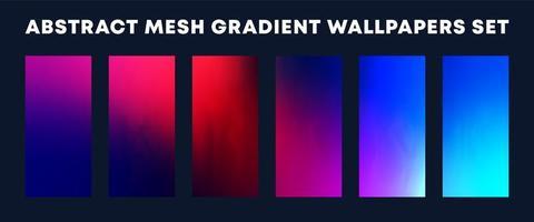 set van kleurrijke mesh-verloop wallpapers