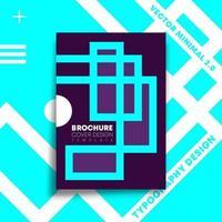 blauw en paars lijnenontwerp voor flyer, poster, brochure