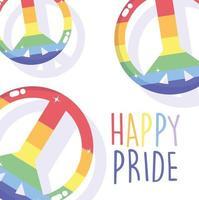 happy pride day vredestekens vector