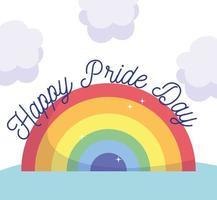 gelukkige trotsdag regenboog vector